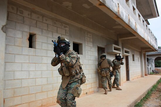 Marines in Urban Warfare training  by Jesse  B.
