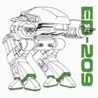 Teevolution :: ED-209 (Robocop) by Teevolution