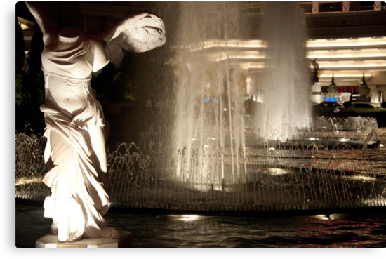 Fountain outside Caesar's Palace by Mark Prior