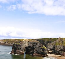 canoeists view of virgin rock Ballybunion Kerry Ireland by morrbyte