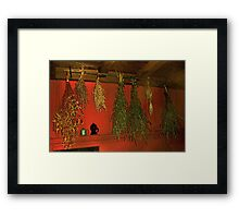 Harvest of Herbs Framed Print