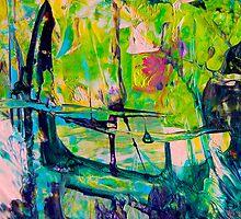 To Cross the bridge where the Iris grow by Diane  Kramer