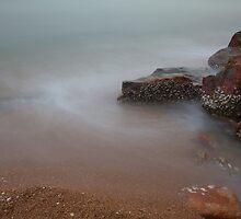 Rocks, Butterfly Beach. by Nick Atkin