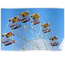 Bright Colourful Ferris Wheel Poster