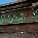 """ Little Ghost Hands "" Handprints by waddleudo"
