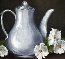 Silver Pitcher with Daisies by Jimmie Roberson