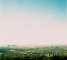 Griffith Park Observatory and Downtown L.A. - Cross processed by Reuben Reynoso
