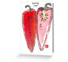 Chili Pepper Heart Greeting Card