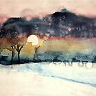 winter sunset by Claudia Dingle
