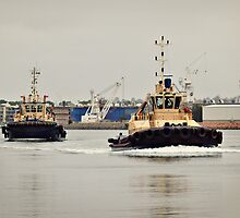 Two Tug Boats by sallydexter