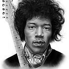 Jimi Hendrix drawing by John Harding