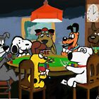 Cartoon Dog Poker by GeekCupcake