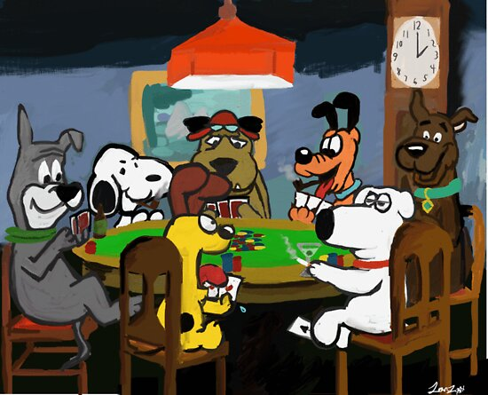 Cartoon Dog Poker by Tamz S