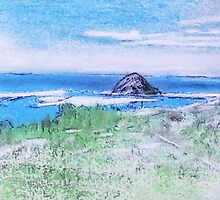 Out of  my Sofa Art,  Over Looking Morro Bay & Rock by David M Scott