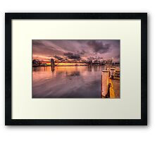 Sitting On A Dock In The Bay - Lavender Bay, Sydney Harbour, Australia - The HDR Experience Framed Print