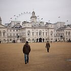Horse Guards and London Eye by Reuben Reynoso