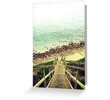Steps to the shore Greeting Card