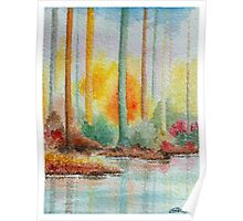 AUTUMN IN PASTEL COLORS - WATERCOLOR Poster