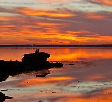 Tuggerah Lakes Sunrise. by Warren  Patten