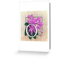 O is for Orchid Greeting Card