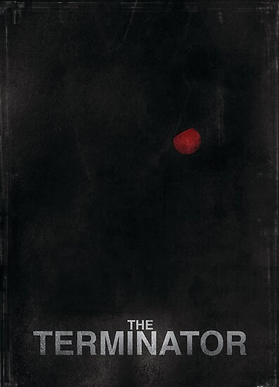 """The Terminator"" - minimalist movie poster design by J PH"