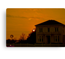 House of the Setting Sun Canvas Print