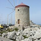 Windmill - Rhodes Harbour Greece by alan whıteman