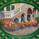 Outdoor Cafe In Vencie by Charlotte  Blanchard