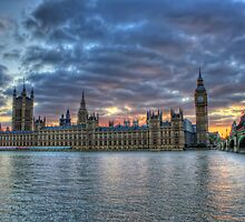 London  Westminster at Sunset, London England by Giovanna Tucker