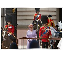 Her Majesty The Queen, Trooping the colour, 2010 Poster