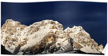 Dolomites on the blue sky by Francesco Malpensi