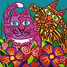 &#x27;Cracked Cats in the Garden&#x27;  by Lisa Frances Judd ~ Original Australian Art