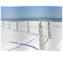Snow at Old Orchard Beach Poster
