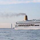 Cruise Ship near Southampton by Chris Cardwell
