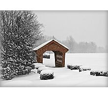 Little Red Covered Bridge Photographic Print