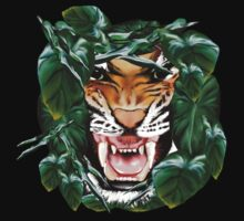 Tiger thru the leaves Shirts by Lotacats