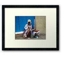 Cuban Cigar Lady! Framed Print