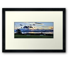 Viewing the Sunset Framed Print