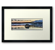 Sunset Pier Five Framed Print