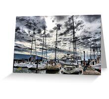 Oak Harbor Marina and Clouds Greeting Card