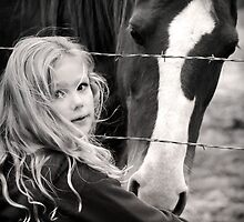 All horses deserve, at least once in their lives, to be loved by a little girl... by Laura Palazzolo