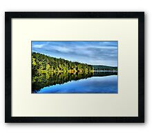Pass Lake Fall Reflection Three Framed Print