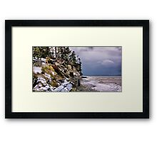 West Beach Snow Framed Print