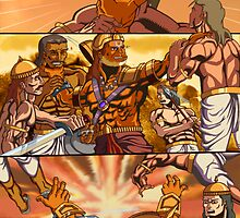 Graphics novel - Mother's command - sample page  by sushobhan
