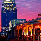 Nashville Walking bridge and the Pinnacle Bldg. by Shannon Smith
