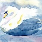 Pastel Swan by Yvonne Carter
