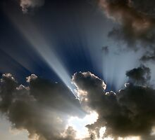 Crepuscular Rays by Clive
