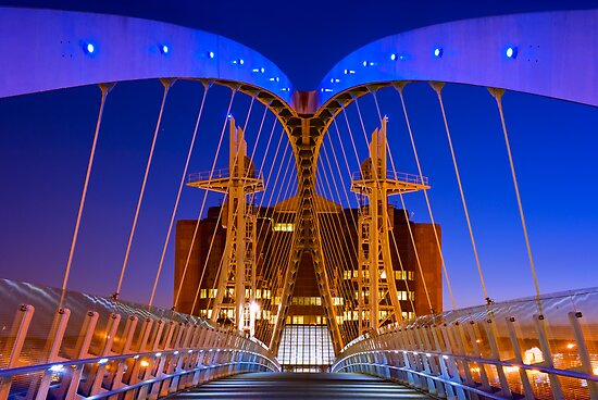 Salford Quays Millennium Bridge - Salford by Yen Baet