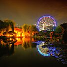 Chinese garden at night by andreisky