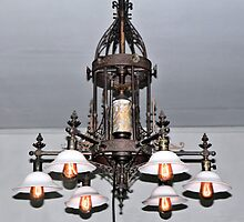 Edison Home Chandelier by Rosalie Scanlon